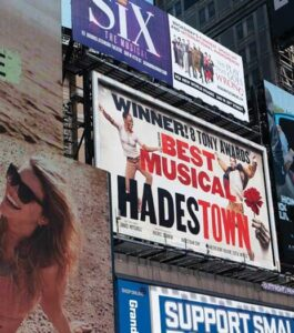Broadway show promo ads in NYC