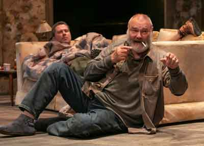 """""""Buried Child"""" by Sam Shepard at The Shakespeare Theatre of NJ. Roger Clark and Sherman Howard in photo by Jerry Dalia."""