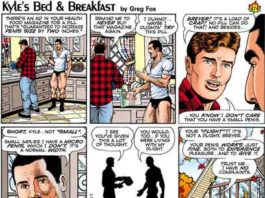 Kyle's Bed & Breakfast Cartoon by Greg Fox -December 2017