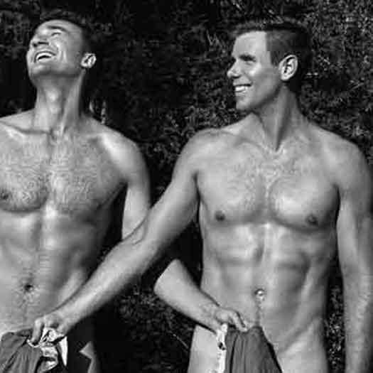 Photo from Adam Malcolm's annual Calendar of the Warwick Rowers