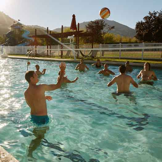 Camp No Counselors – featured on Shark Tank, if you're a fan of the show – is dipping its proverbial toe in the homo pond at its Los Angeles outpost this fall