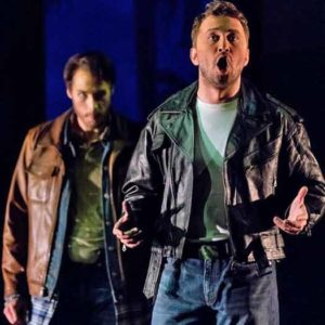 """Carmen's"" Don Jose -tenor Evan LeRoy Johnson and Escamillo as baritone Adrian Timpau"