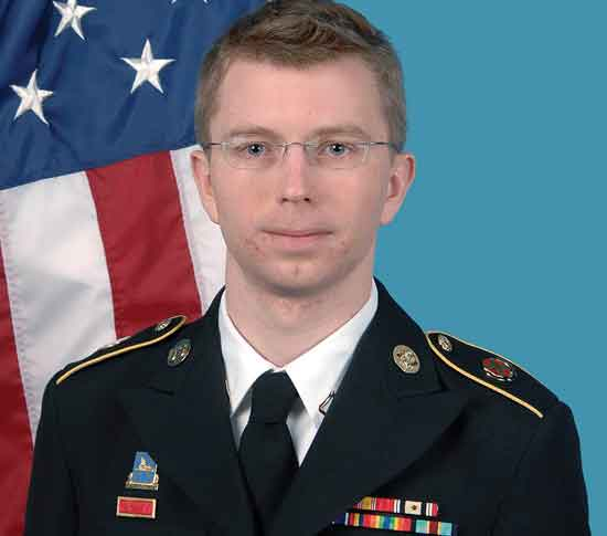 Chelsea Manning in a US Army photo in 2012