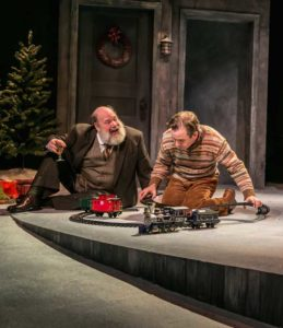 """A Child's Christmas in Wales"" by Dylan Thomas, at The Shakespeare Theatre of New Jersey. Pictured: John Ahlin and Greg Jackson. Photo credit: Jerry Dalia"