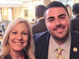 Christian Fuscarino, of Garden State Equality at the NJ State House last week