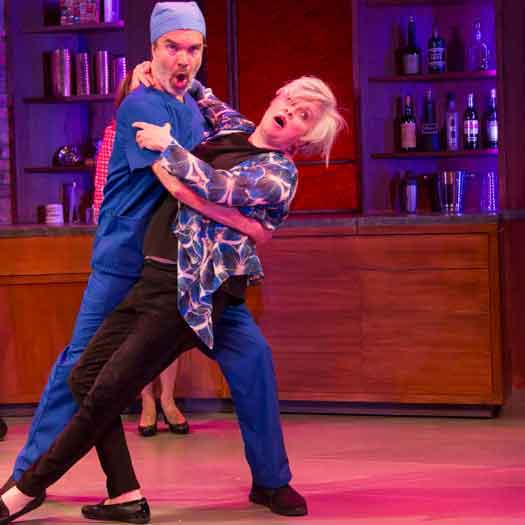 Chris Shyer and Nancy Opel in the musical comedy
