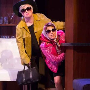 "Nancy Opel and Andrea Bianchi in the musical comedy ""Curvy Widow,"" at George Street Playhouse. Photo by T Charles Erickson"