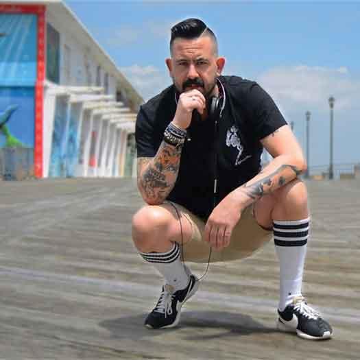 DJ UnclesNephew on Asbury Park, NJ Boardwalk. Photo by Carlo Anthony