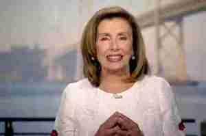 Nancy Pelosi spoke during the Democratic National Convention 2020