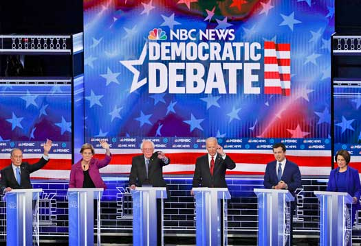 Democratic party's most combative debate