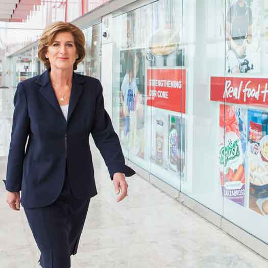 Denise Morrison, CEO of the Campbell Soup Company