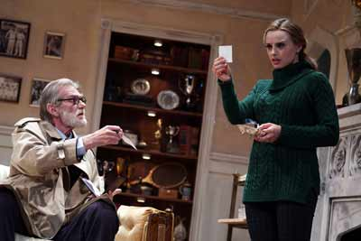 """Dial 'M' for Murder"" with Graeme Malcom and Olivia Gilliattt. Photo by Joan Marcus"