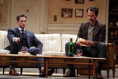"""Dial 'M' for Murder"" with JD Taylor and Grant Harrison. Photo by Joan Marcus"