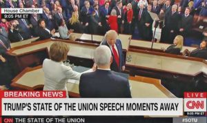 President Trump was probably displaying some disdain for House Speaker Nancy Pelosi Tuesday night when he declined to shake hands with her as he presented her with a copy of his speech, as is tradition.
