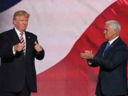 Donald Trump and Mike Pence at RNC July 2016