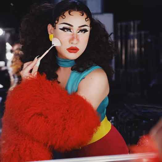 """As Soju """"sashayed away"""" at the end of the first episode, the (get ready) oozing cyst that she mentioned during runway deliberations had already captured the judge's attention, and surely would capture the publics. Photo by Magnus Hastings."""