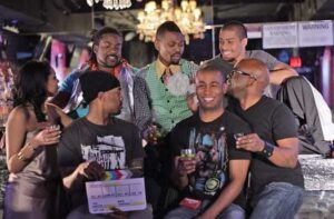 """Actor Dwight Allen O'Neal and the cast from """"Christopher Street TV web series"""