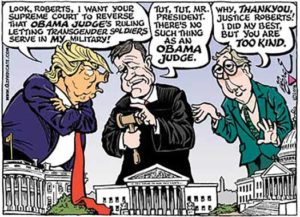 Editorial cartoon lampooning Mitch McConnel and Donald Trump