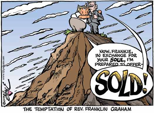Editorial Cartoon about Franklin Graham