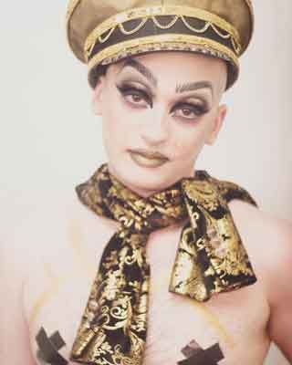 Drag performer E.LicksHer photo by Pete Carter
