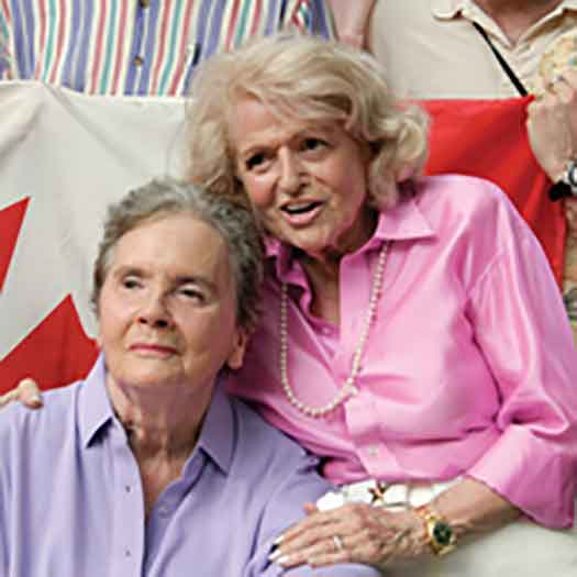 Edie and Thea in Canada 2014