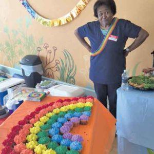 H.E.R.O.I.C. Rainbow Cupcakes