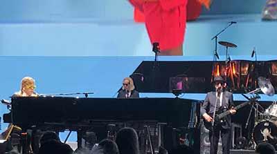 Elton John on stage photo by Will Loschiavo