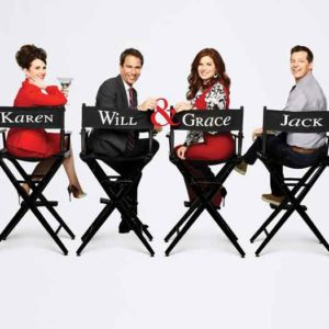 "Eric McCormack plays Will and is seen here with the full ""Will & Grace"" 2018 cast."