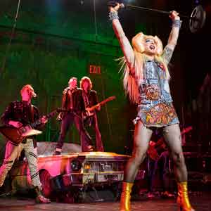 "Euan Morton as Hedwig in ""Hedwig and the Angry Inch."" Photo by Joan Marcus"