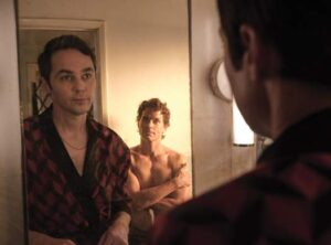 "Jim Parsons in a scene from ""Boys in the Band"""