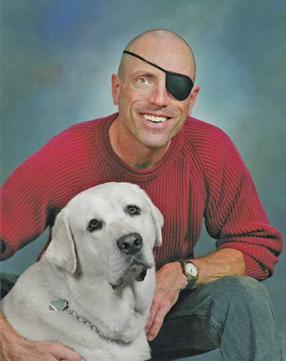 Pictured here with his dog is Kurt Weston