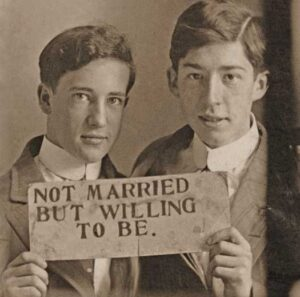 """Not married but willing to be photo from the book """"Loving: A Photographic History of Men In Love"""""""