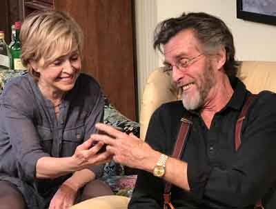 """Fern Hill"" world premier with Jill Eikenberry and John Glover in photo by SuzAnne Barabas"