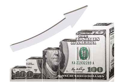 Upward trend money arrow