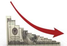 Dwindling downward money arrow
