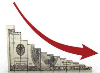 Dwindling downward money arrow