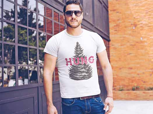 Sexy man wearing KaiOnyx Hung Tree Shirt