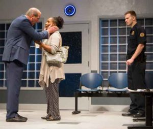 """John Bolger, Suzzanne Douglas and Mark Junek in """"American Son."""" Photo by T Charles Erickson"""