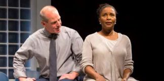 "John Bolger and Suzzanne Douglas in ""American Son."" Photo by T Charles Erickson"