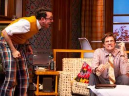 "Jonathan Kite and Colin Hanlon in ""The Nerd"" at George Street Playhouse. All photos by T. Charles Erickson."