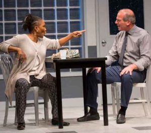 "Suzzanne Douglas and John Bolger in ""American Son"" at George Street Playhouse. Photo by T Charles Erickson"