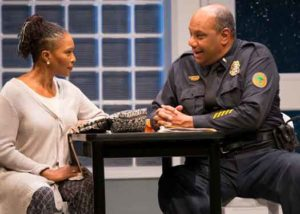 "Suzzanne Douglas and Mark Kenneth Smaltz in ""American Son"" at George Street Playhouse. Photo by T Charles Erickson"