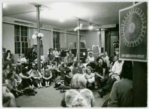 Photo from a meeting of the Gay Liberation Front in the 1970s