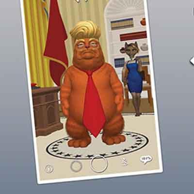 George Takei political fun phone app with Trumpy Cat