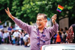 George Takei at the 2014 Seattle Pride Parade c 2014. Photo by Nate Gowdy Photography
