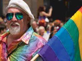 Gilbert Baker, Rainbow Flag creator at 2012 San Francisco Pride festival