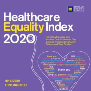 HRC Healthcare Equality Index 2020 banner