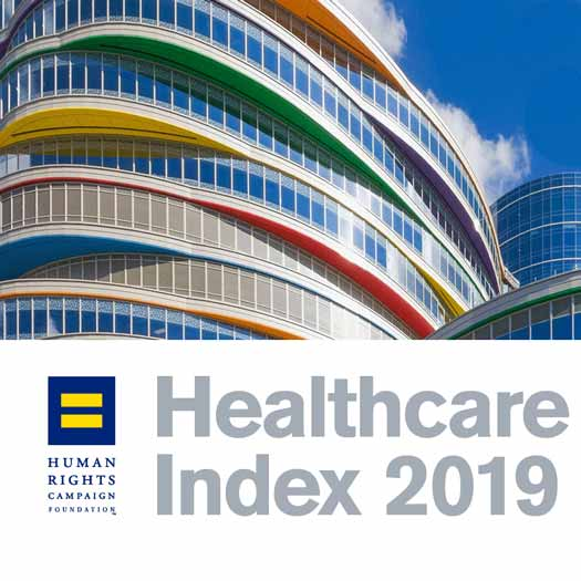 LGBTQ Health Care Equality Leader 2019 graphic