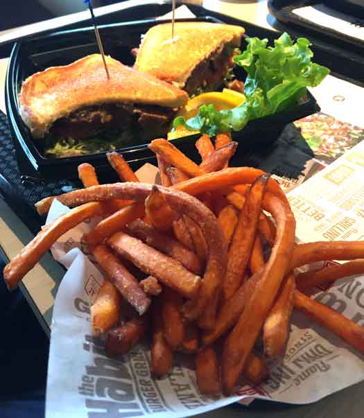 The Habit Burger Grill steak sandwich