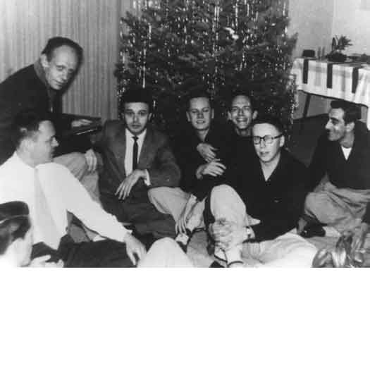 Harry Hay (upper left) with members of the Mattachine Society in 1951. (Wikimedia)